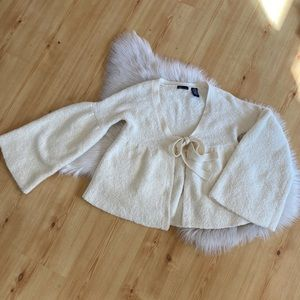 Off White Bell Sleeve Cardigan